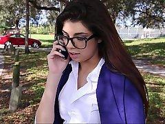 Brunette, Coed, Glasses, Student