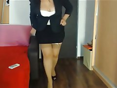 Mature, MILF, Stockings, Webcam